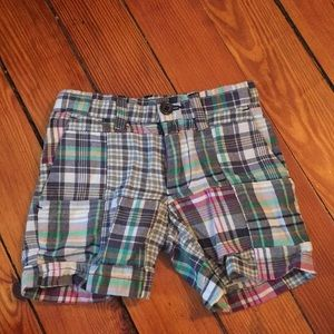 Plaid polo shorts